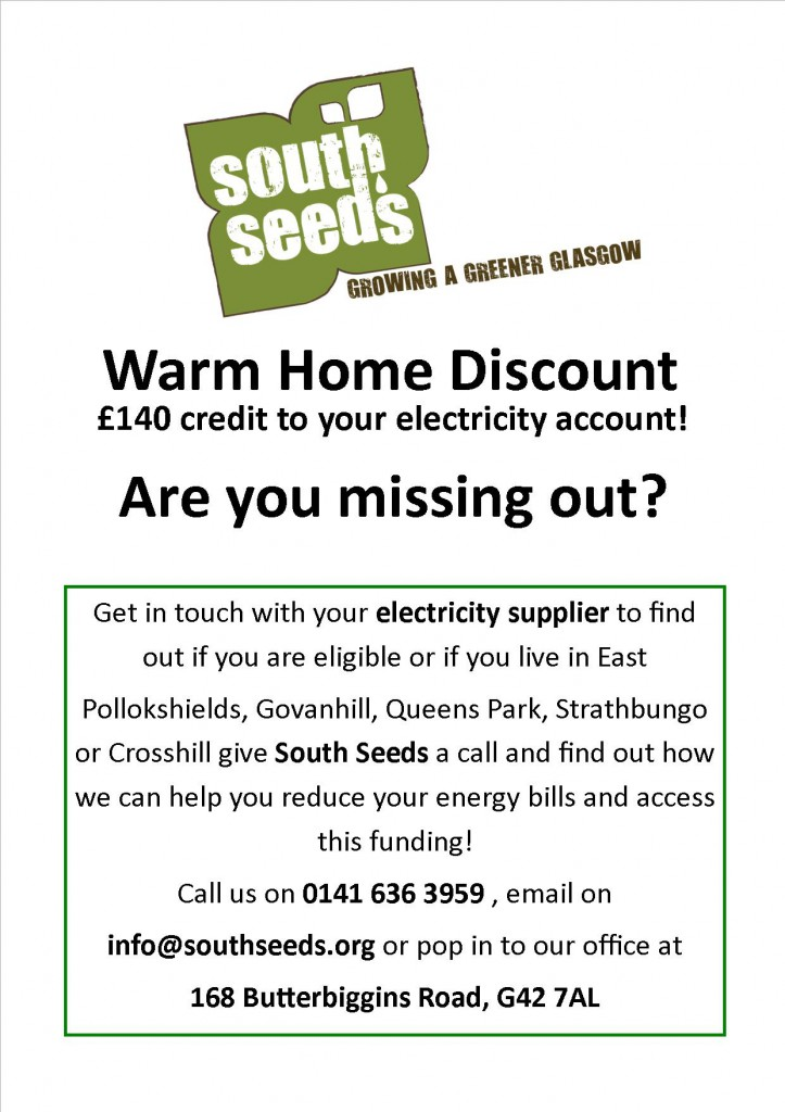 Warm home discount poster for facebook or website