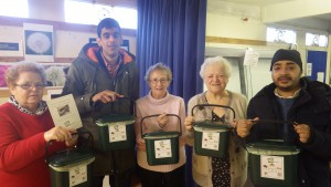 Compost caddies to take home and put in kitchen