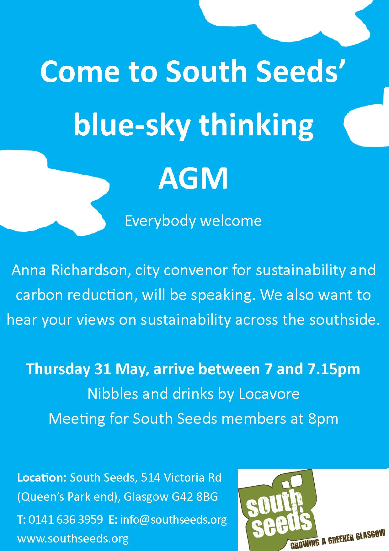 Come to our Annual General Meeting – South Seeds